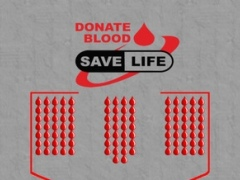 Donate Blood : Time to donate 100 Drops of Blood, Game teach People for Awareness to donating Blood to save life 1.0 Screenshot