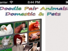 Doodle Pair Animals! Domestic & Pets for Kids - Photo Match Up Game (Picture Match) 1.0.0 Screenshot