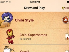 Draw And Play For Chibi Superheroes 1.0 Screenshot