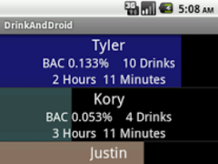 DrinkAndDroid 1.0 Screenshot