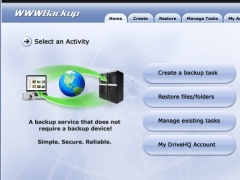 DriveHQ WWWBackup 2.0 Screenshot