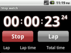 Droid timer and stopwatch 1.2 Screenshot