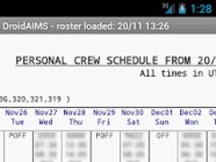 DroidAIMS 1.9923 Screenshot