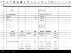 Droidsheet Spreadsheet + Macro 3.4.19 Screenshot