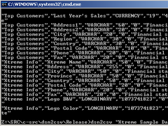 dsn2csv 1.0 Screenshot