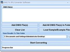 DWG To JPG Converter Software 7.0 Screenshot