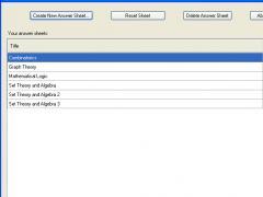 E Answer Sheet 1.0 Screenshot