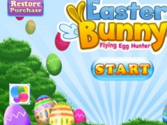 Easter Bunny Flying Egg Hunter Free Kids Game: Collect the Cute Colorful Eggs and Baskets as Many as You Can 1.0 Screenshot