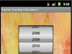 Easter Sunday Calculator 1.2 Screenshot