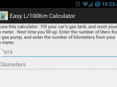 Easy L/100Km Calculator 2.0 Screenshot