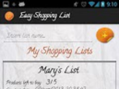 Easy Shopping List PRO 1.5 Screenshot