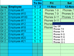 Easy Task Schedules with Excel 1.37 Screenshot