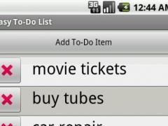 Easy To-Do List 1.1 Screenshot