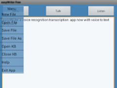 Voice Transcription EasyWriter 2.3 Screenshot