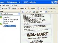 eBill Manager 1.0 Screenshot