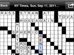 eCrosswords for iPhone 1.0 Screenshot