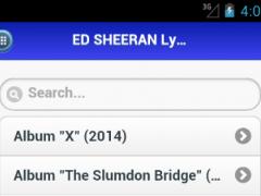 Ed Sheeran Lyrics Album 2016 1.0 Screenshot