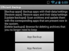 Efficient Backup (root) 1.6.1 Screenshot