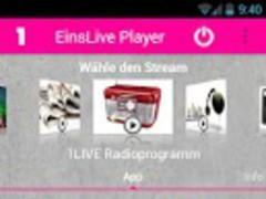 EinsLive Radio Player 5.0.4 Screenshot