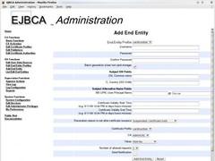 EJBCA, J2EE PKI Certificate Authority 4 Screenshot