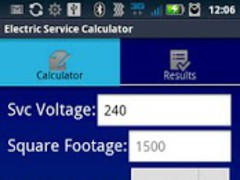Electric Service Calculator 0.1 Screenshot