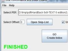 Elite Index and Concordance Creator 2.0 Screenshot