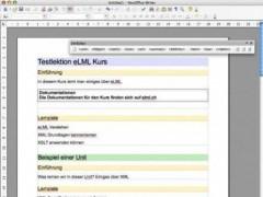 eLML - eLesson Markup Language  Screenshot