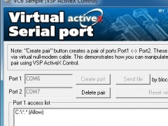 Eltima Virtual Serial Port AX Control 7.1 Screenshot
