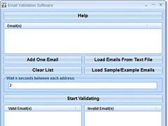 Email Validation Software 7.0 Screenshot