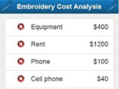Embroidery Cost Analysis 1.0 Screenshot