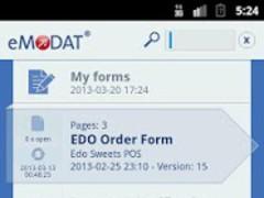 eMODAT Service 2.2 Screenshot