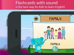English for kids with Benny. Learning English language by flashcards: colors and numbers, greetings and family, food and fruits, animals and remember the pronunciation of words FREE 1.2.0 Screenshot