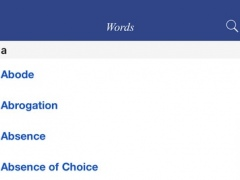 English Thesaurus: general ideas classified 1.1 Screenshot