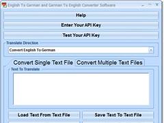 English To German and German To English Converter Software 7.0 Screenshot