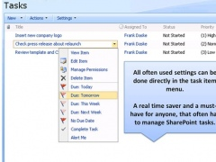 Enhanced SharePoint User Tasks Menu 1.0 Screenshot