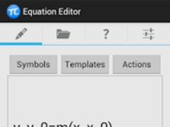 Equation Editor 1.0.3 Screenshot