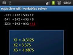 Equation with vars solver FREE 1.1 Screenshot