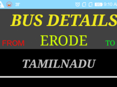 ERODE BUS INFO 1.0 Screenshot