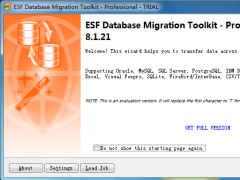 ESF Database Migration Toolkit Pro 9.1.06 Screenshot