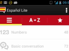 Spanish words with audio Lite 1.0.2 Screenshot