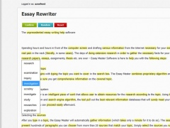 Essay paraphrase rewrite tool 1 0 free download