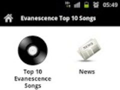 Evanescence Top 10 Songs 3.0 Screenshot