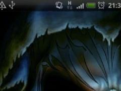 Evil Skull Fire Flames LWP 1.1 Screenshot