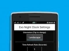 Evo Night Clock -Bedside Clock 2.2 Screenshot