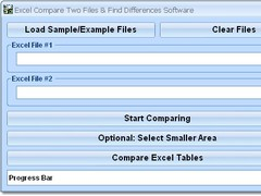 Excel Compare Two Files & Find Differences Software 7.0 Screenshot