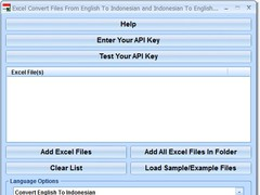 Excel Convert Files From English To Indonesian and Indonesian To English Software 7.0 Screenshot