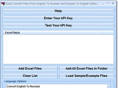 Excel Convert Files From English To Russian and Russian To English Software 7.0 Screenshot