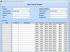 Excel Expense Report Template Software 7.0 Screenshot