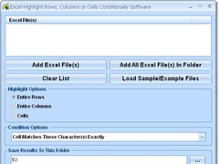 Excel Highlight Rows, Columns or Cells Conditionally Software 7.0 Screenshot