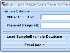 Excel Import Multiple Access Tables Software 7.0 Screenshot